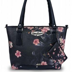 Liquor Brand Sakura Shoulder Bag Coin Purse Set